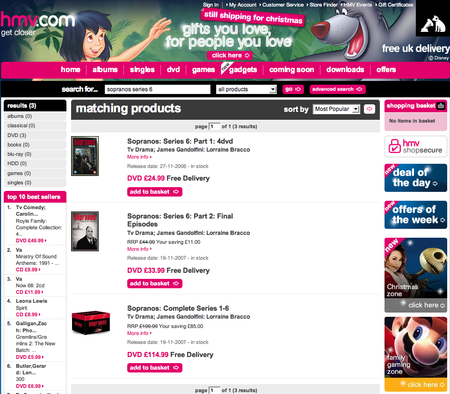 HMV - B2B Web Marketing Usability Case Study