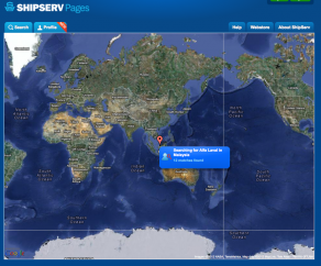 ShipServ live transaction map